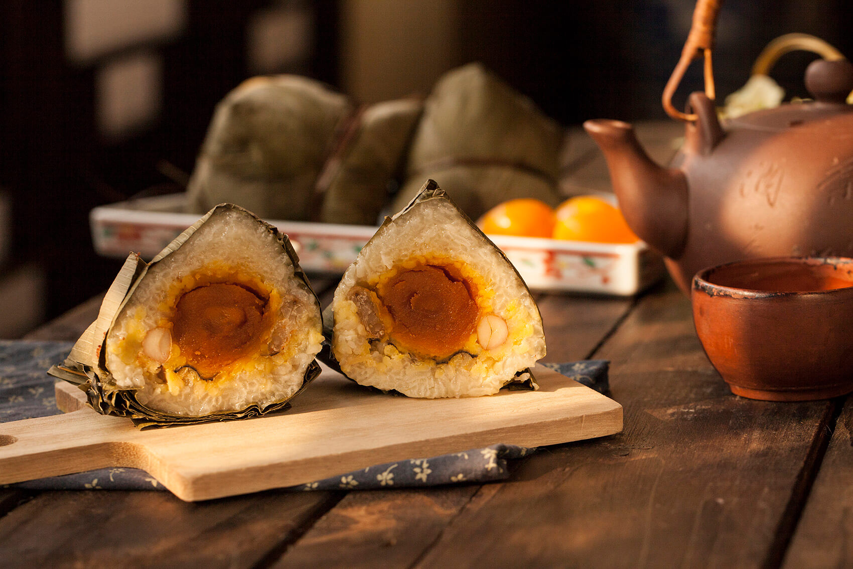 Steamed Glutinous Rice Dumpling with Pork Belly with Salted Egg Yolk